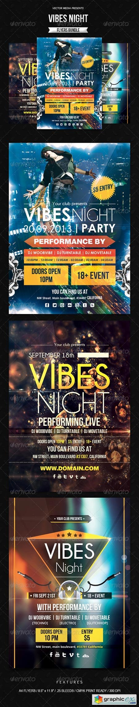 Vibes Night - Flyers Bundle 6413324