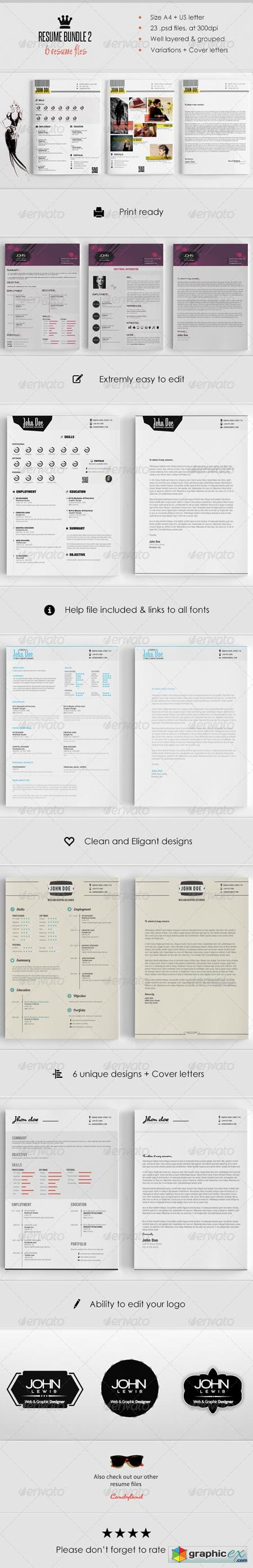 Resume Bundle (6 in 1) 6547693