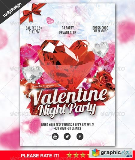 Elegant Valentine Party with Crystal Diamond Style 6548343
