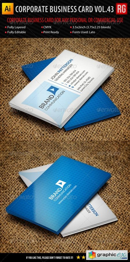 Corporate Business Card Vol.43 6416113