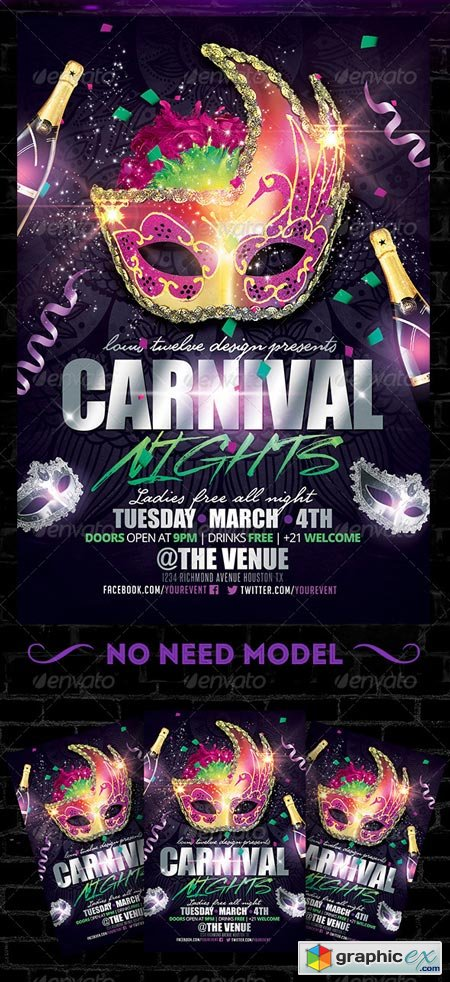 Carnival Nights Flyer Template 6542309