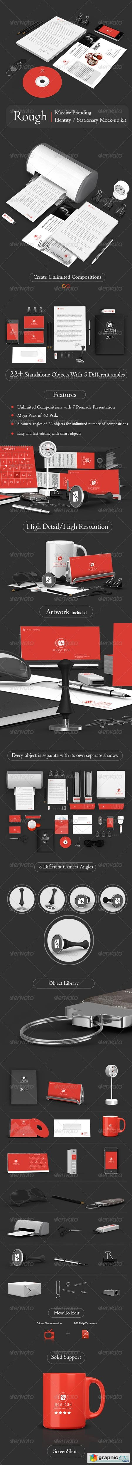Rough Massive Branding Stationary Mockup Kit 6122007