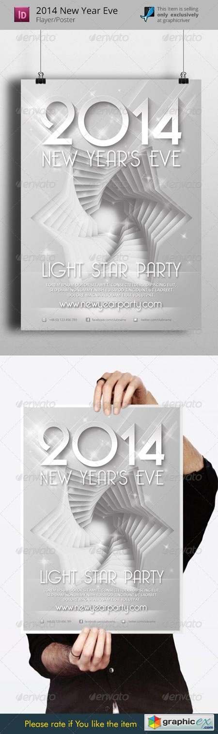 2014 New Years Eve Flyer Template 6286059
