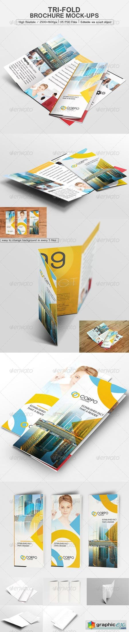 Tri-Fold Brochure Mock-Up 6223721