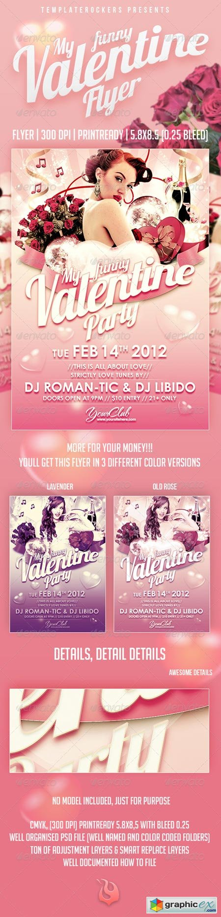 My Funny Valentine Flyer 3 Colors Versions 1366180