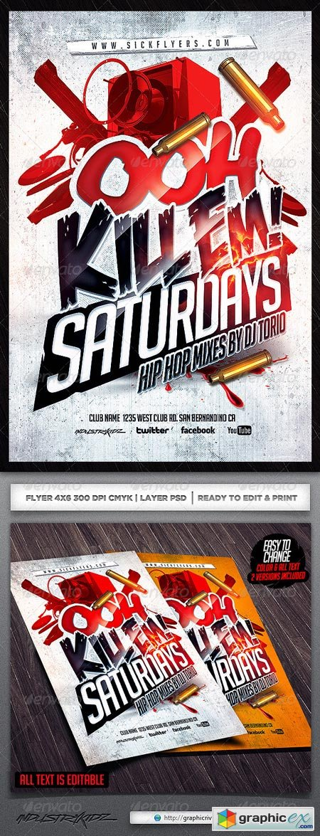 Ooh Kill Em Flyer Template 6339010