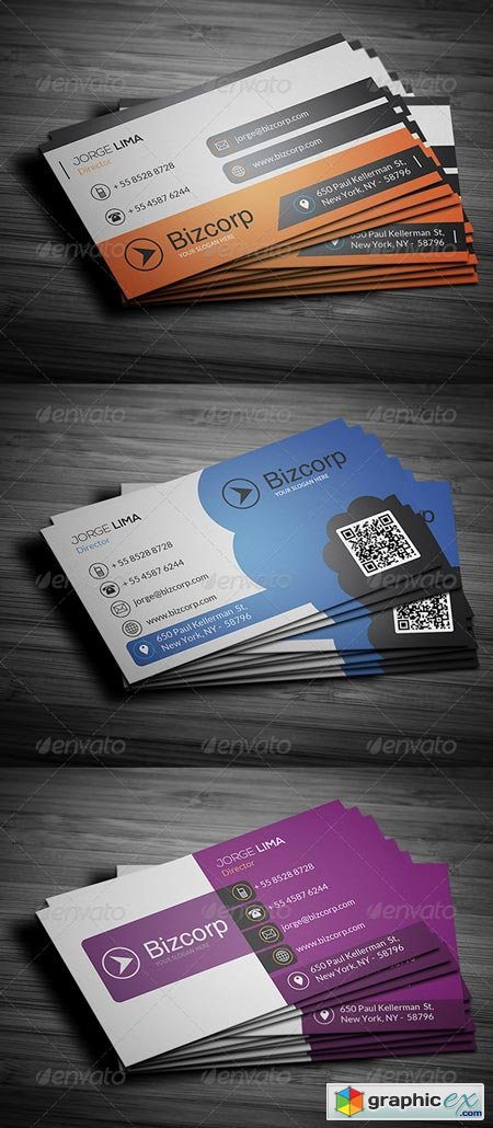 Corporate Business Cards Bundle Vol 51 6477926