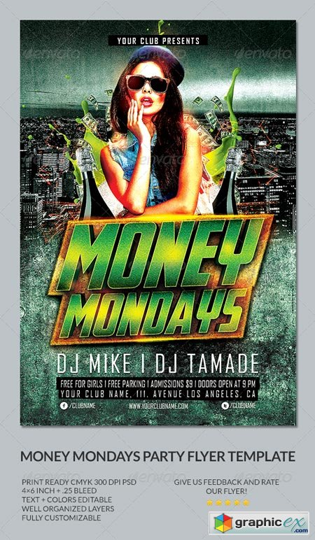 Money Mondays Party Flyer Template