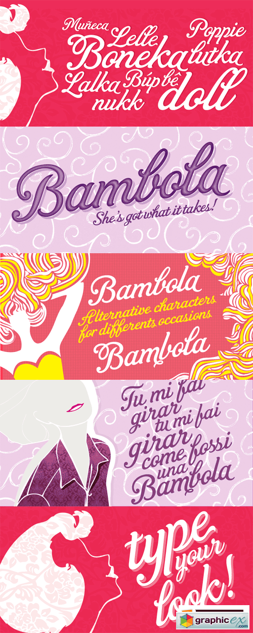 Bambola Font for $60