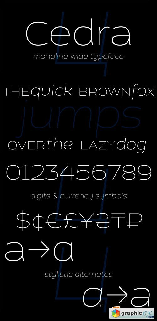 Cedra 4F Font Family - 8 Fonts for $97