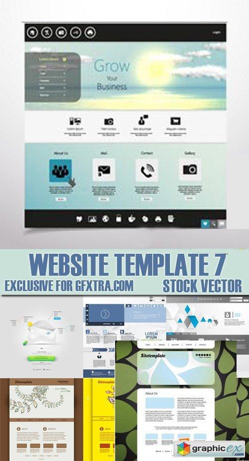 Stock vectors website template 7 25xeps free download vector stock vectors website template 7 25xeps maxwellsz