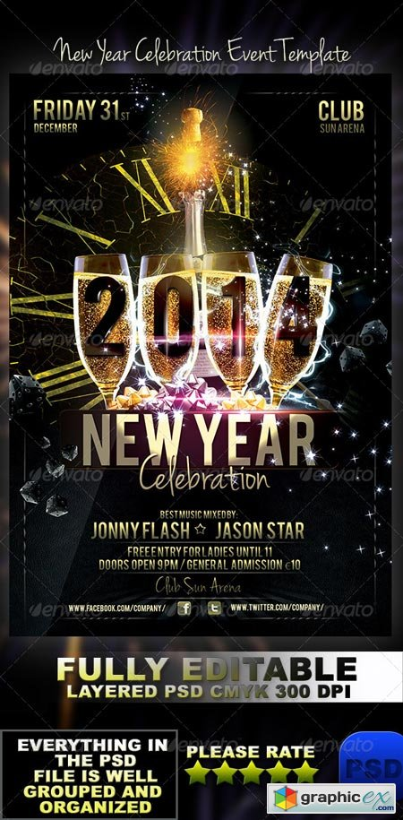 New Year Celebration Event Template 6009213
