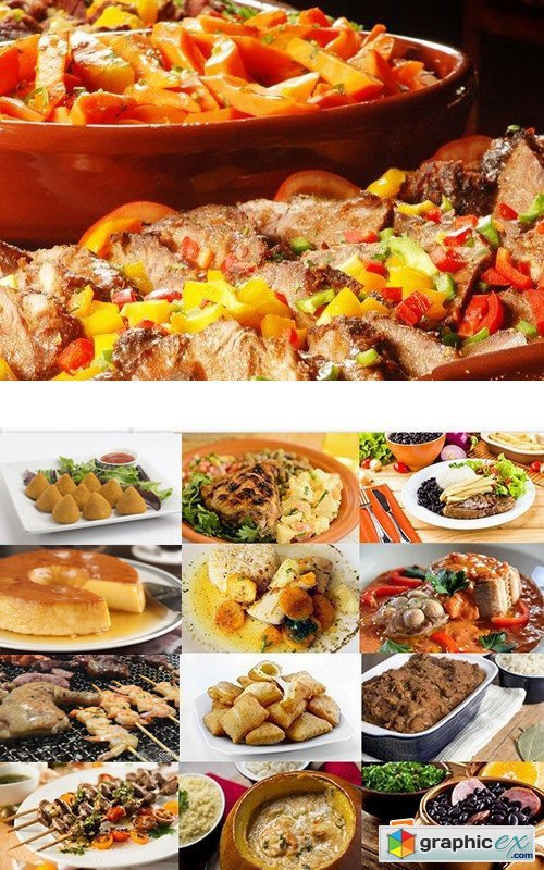Brazilian food set #1 - 25 HQ Jpg