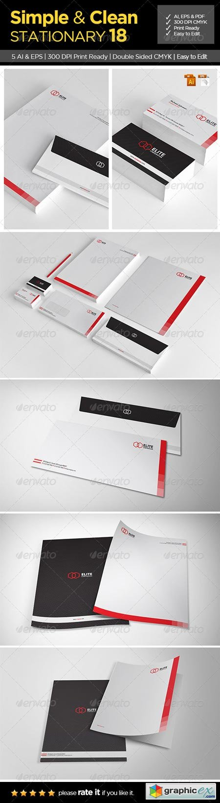 Simple and Clean Stationary 18 6507676