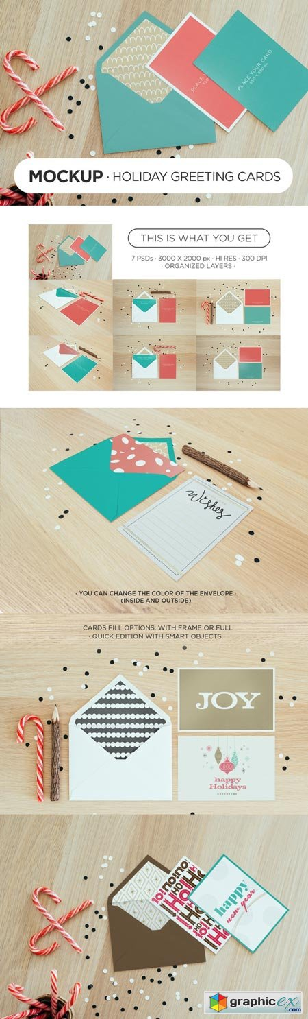 Holiday Greeting Cards � Mockups 17979
