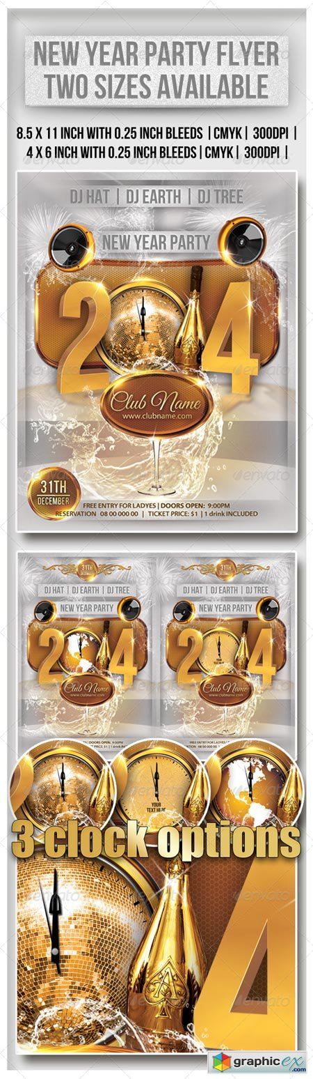 New Year Party Flyer 6348587