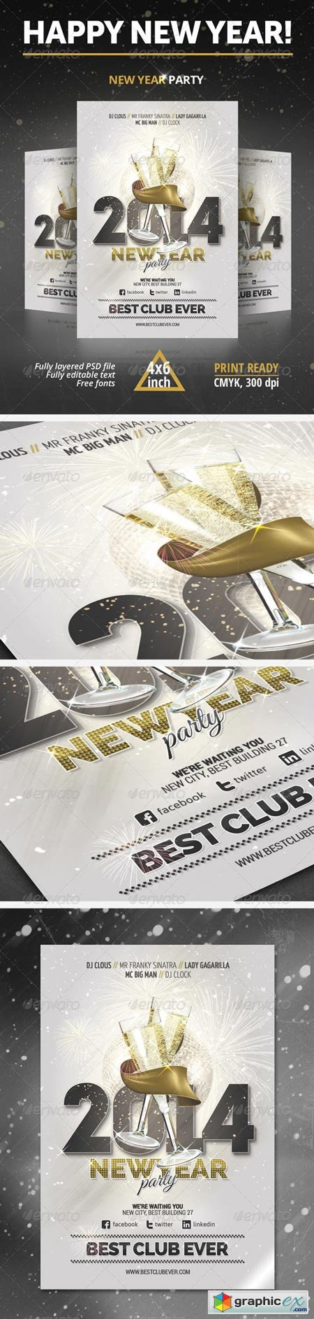 New Year Party Flyer 6300375