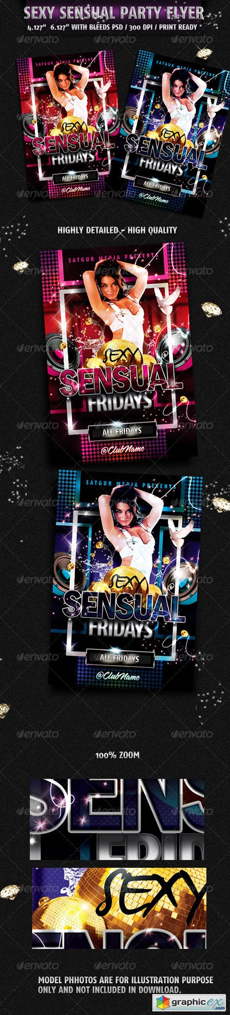 Sensual Music Dance DJ Night Party Flyer 2138436