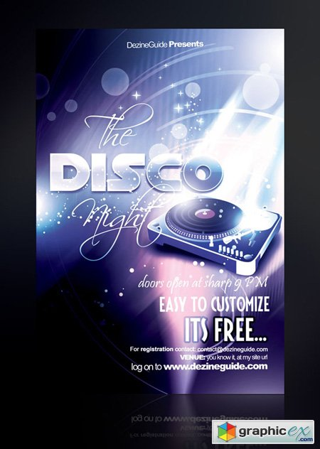 Disco Night Flyer Poster Template