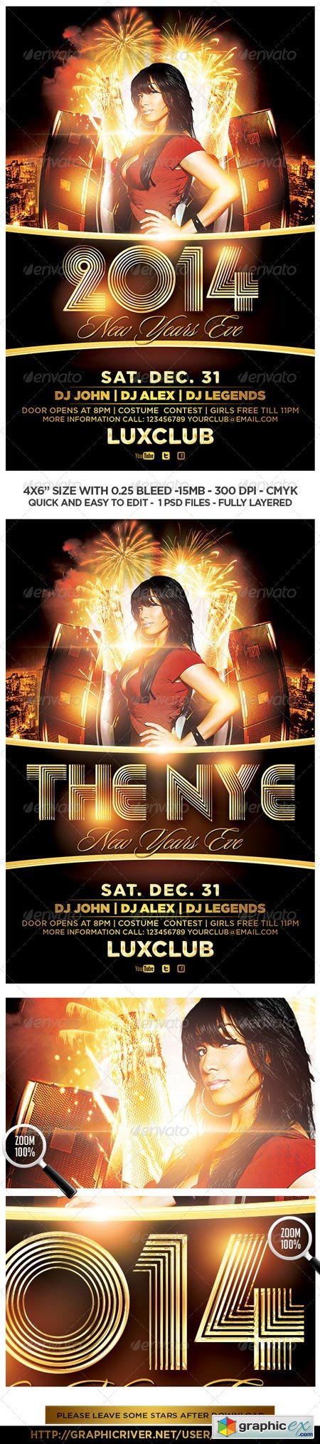 2014 New Years Eve Flyer 6112249