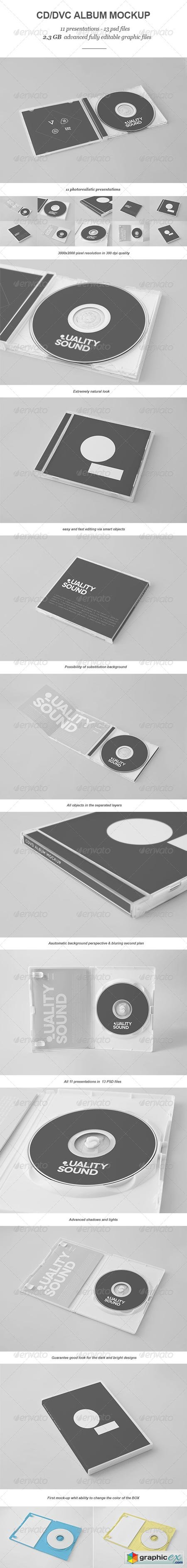 CD DVD Album Mock-up