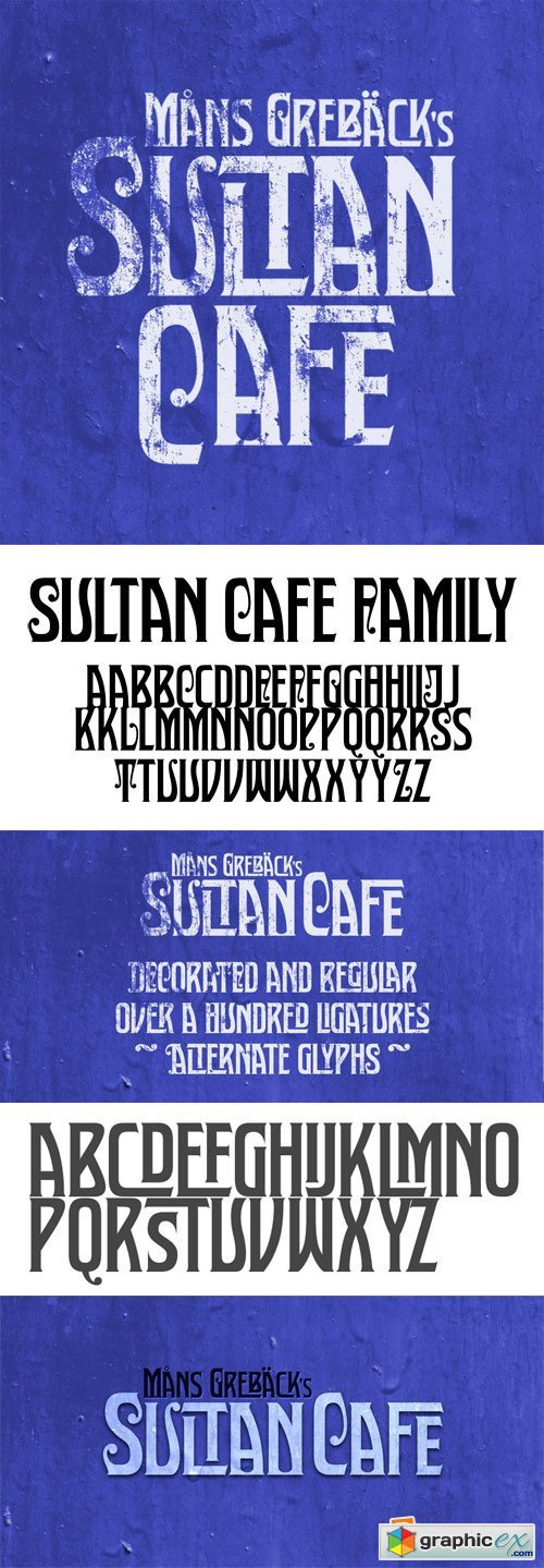 Sultan Cafe Font Family - 2 Fonts for $59