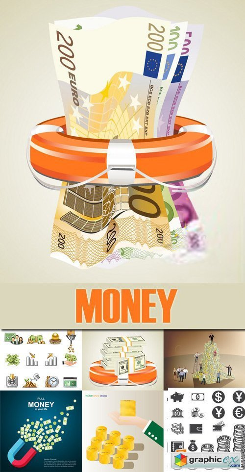 Stock Vectors - Money, 25xEps