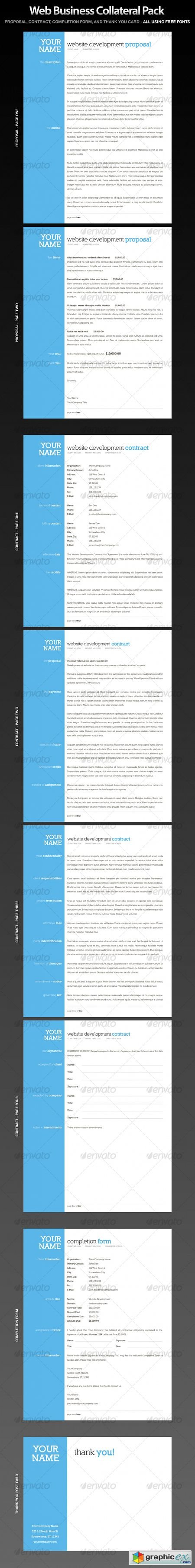 Web Business Collateral - Contract, Proposal