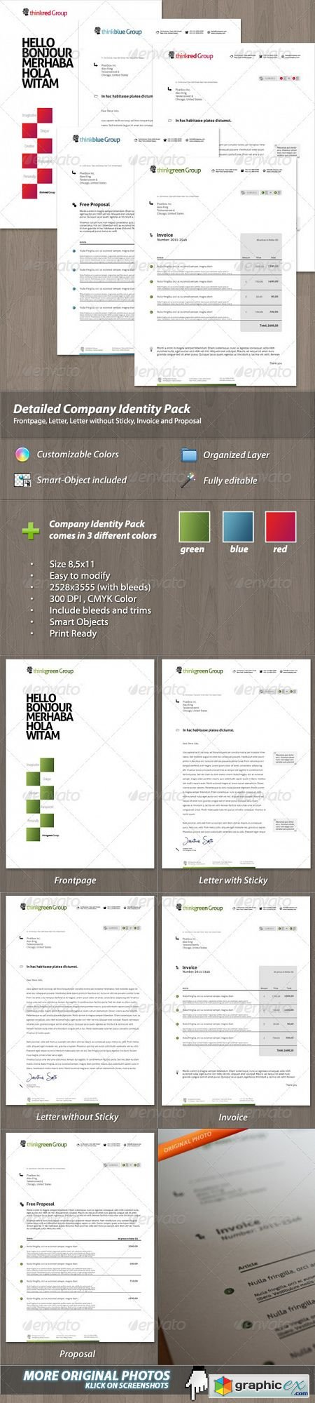 Modern Company Identity Pack for your Business