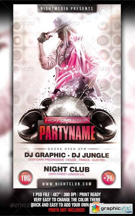 White Party Flyer Photoshop