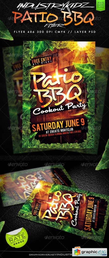 Patio BBQ Party Flyer Template
