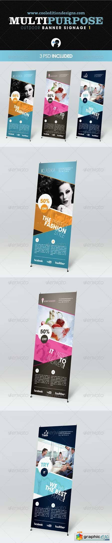 Multipurpose Outdoor Banner Signage 1 Photoshop