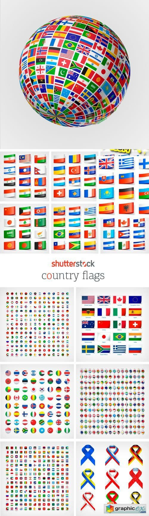 Amazing SS - Country Flags, 25xEPS