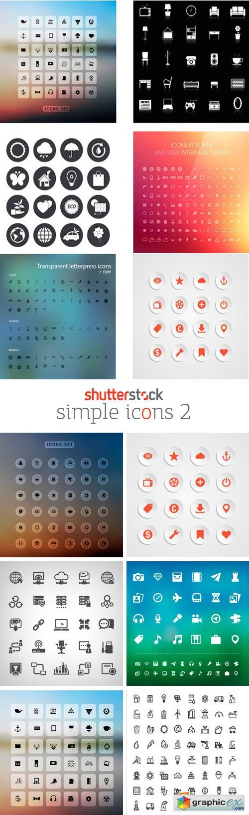 Amazing SS - Simple Icons 2, 25xEPS