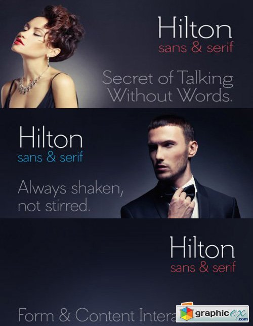 Hilton Sans and Hilton Serif - 2 Fonts for $78