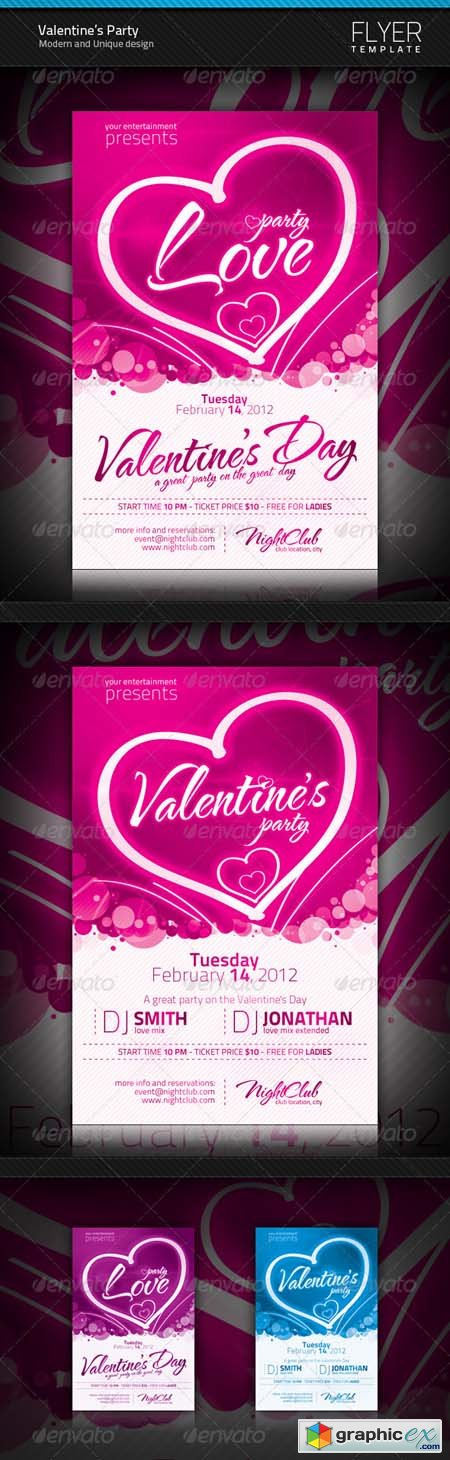 Valentine's Party Flyer 1249567