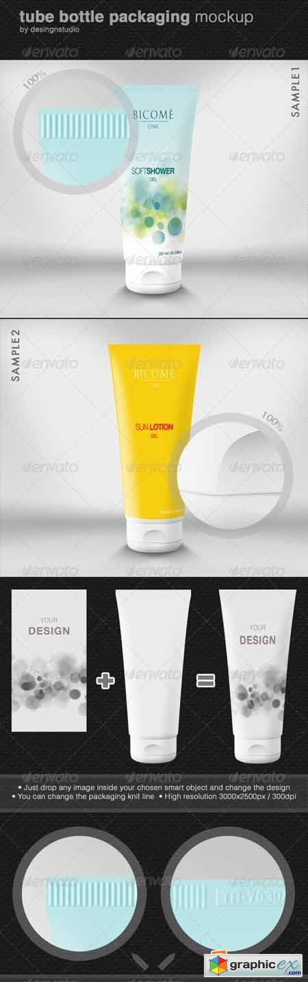 Tube Bottle Packaging Mock-Up 552209