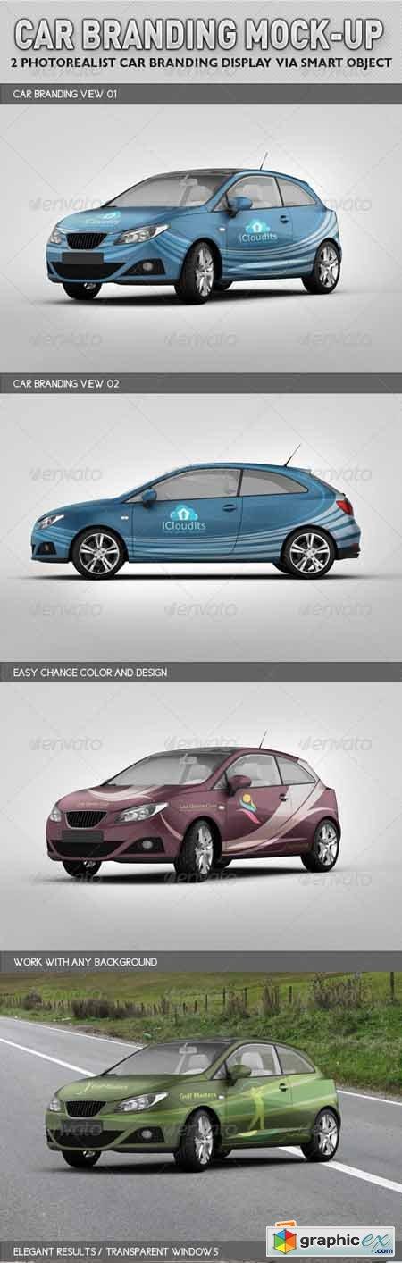 Car Branding Vector Car Branding Mock-up 3125312
