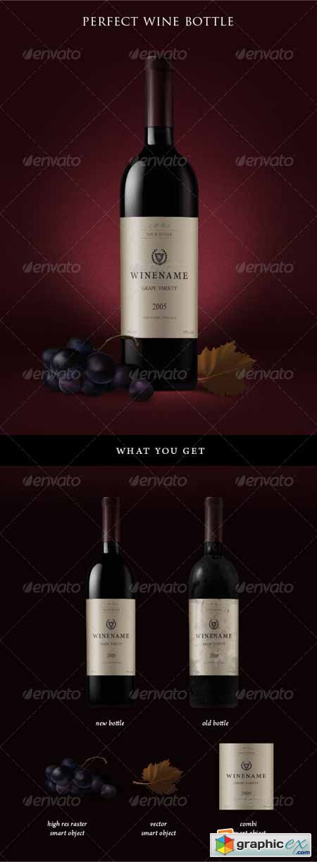 Red Wine Bottles and Grapes 592638
