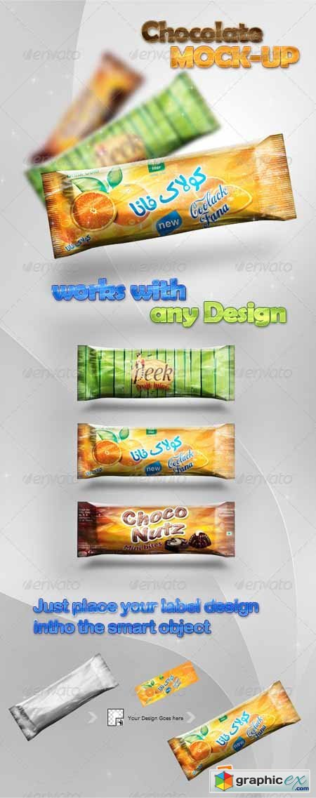 Chocolate/Candy Bar Mock-Up Design Preview 398516