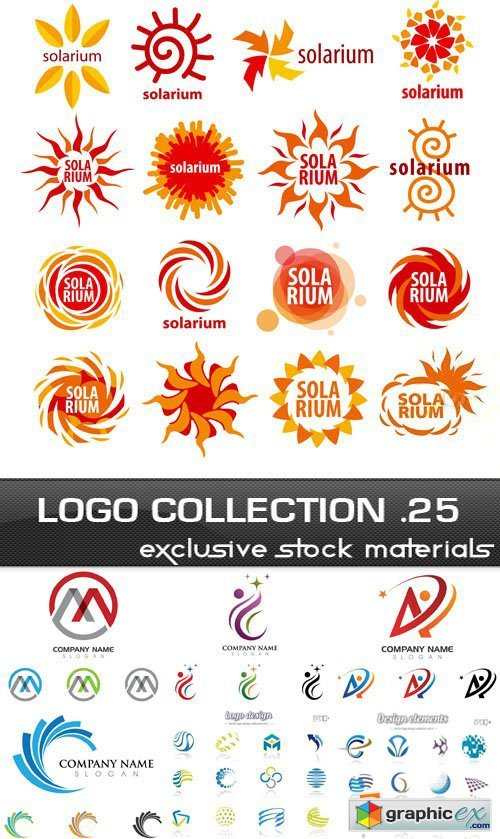 Collection of Logos vol.25, 25xEPS, AI