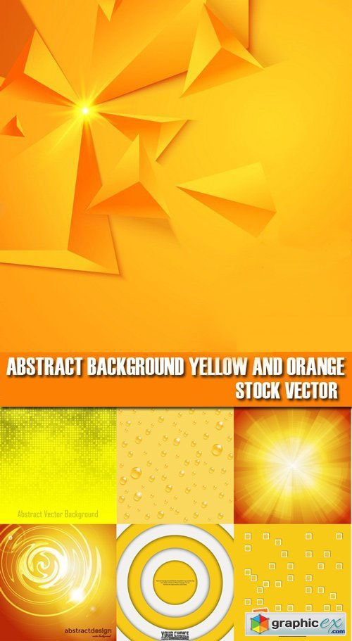 Stock Vectors - Abstract background yellow and orange, 25xEps