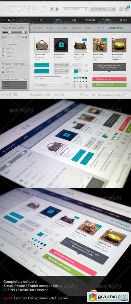 Storepad Touch Elements - User Interface Template