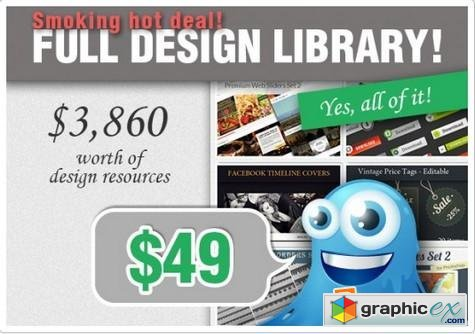 Inkydeals - Smokin Hot Deal: Full Design Library Premium Resources