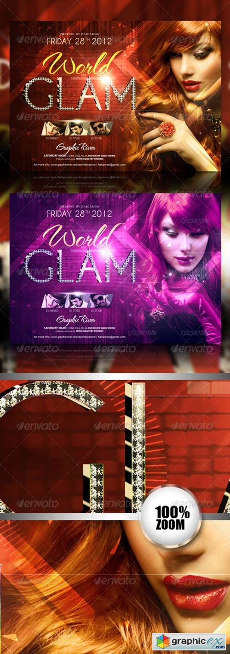 Glam World Party Flyer 2781557
