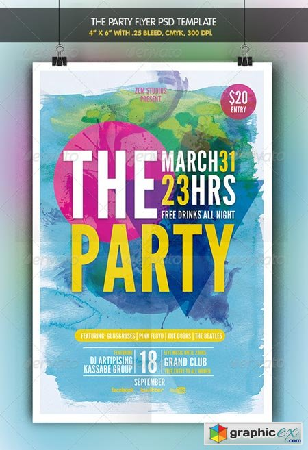 The Party Flyer Template 6962431