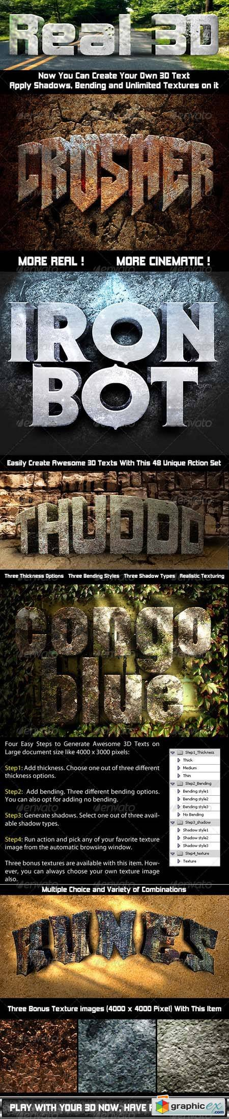 Photoshop Text Effect: Cinematic 3D Actions Photoshop