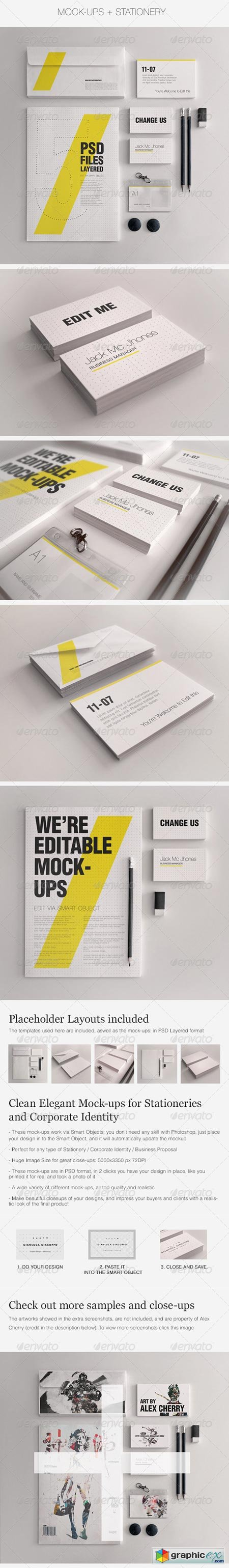 Realistic Stationery Mockups Set 1- Corporate ID 3358091