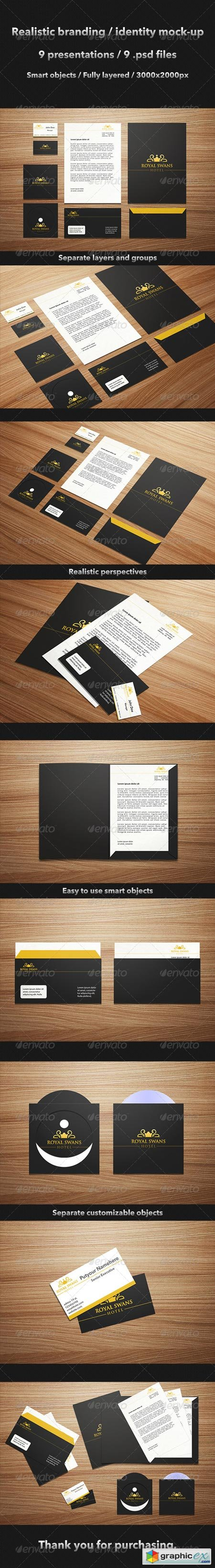 Realistic Brand Identity Mock-Up 4540150