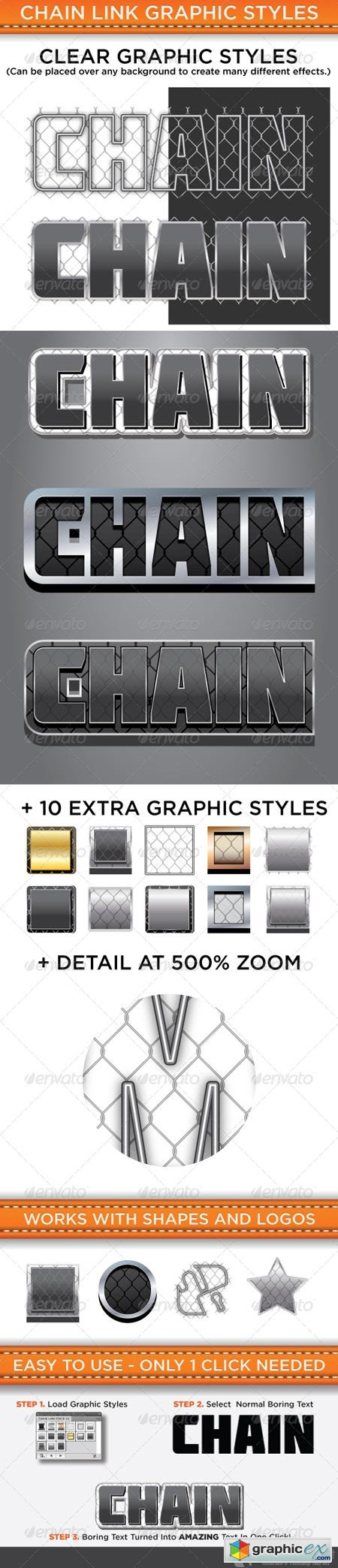Chain Link Graphic Styles 4623465